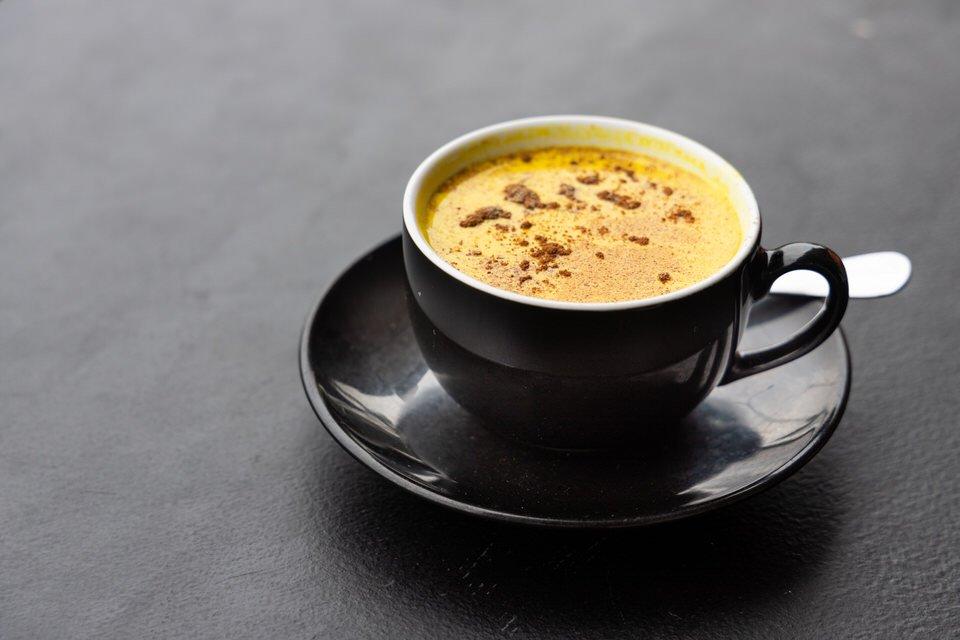 receta de curcuma latte